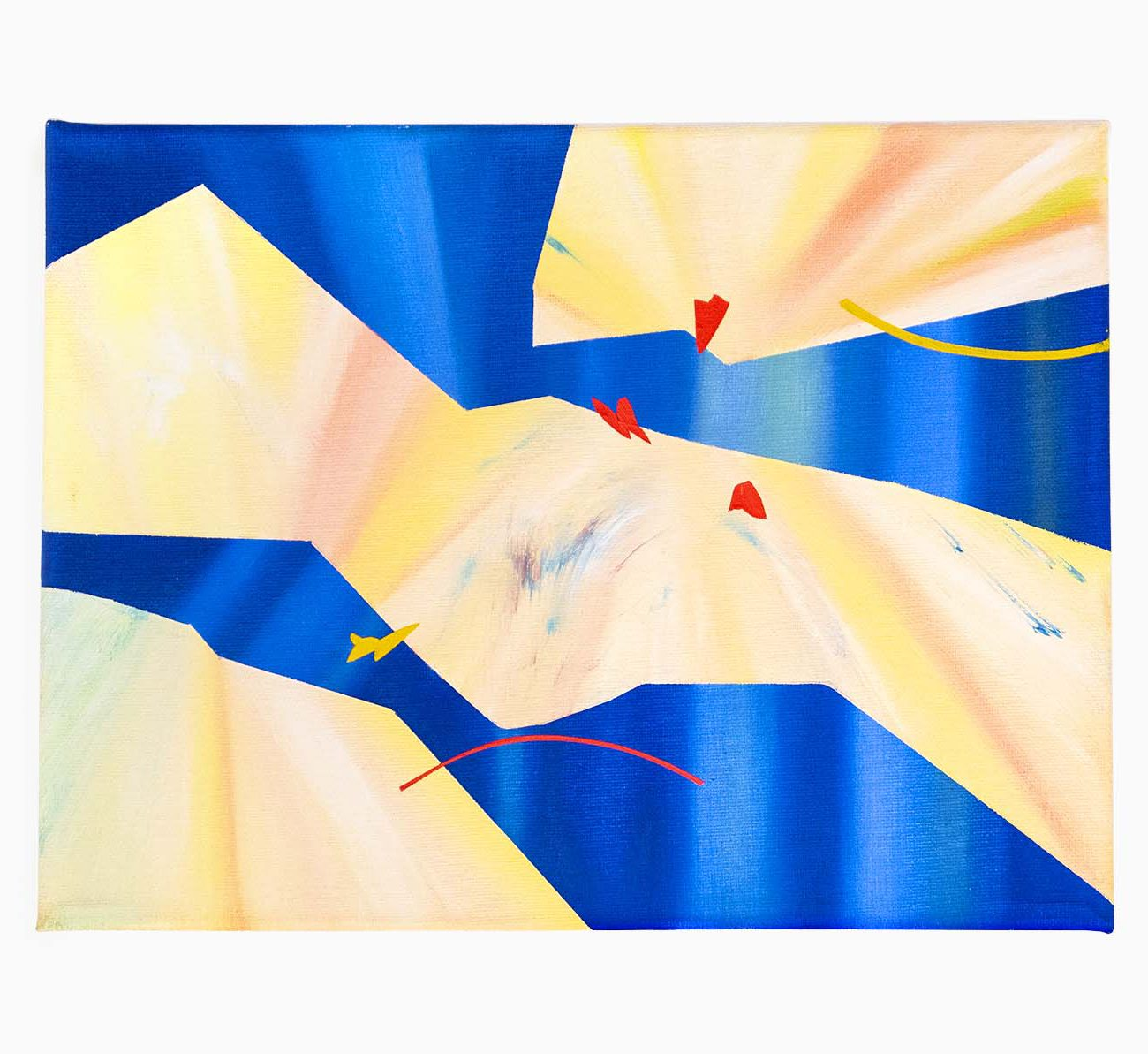 Warp 12 (W) x 9 (H) Inches Oil on Canvas 2020 by 권재나 Jaena Kwon
